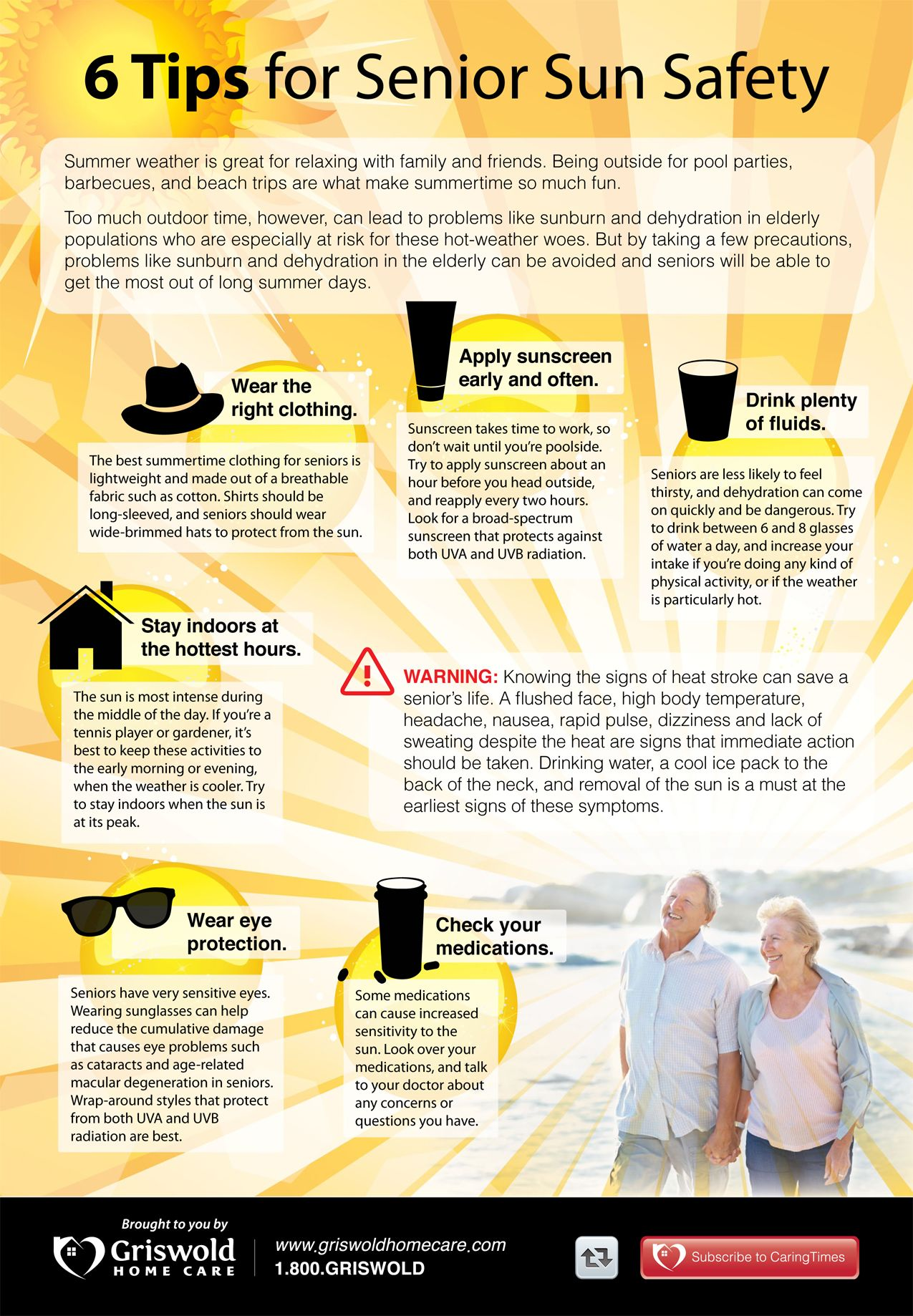 6 tips for senior sun safety #sunsafety #infographic