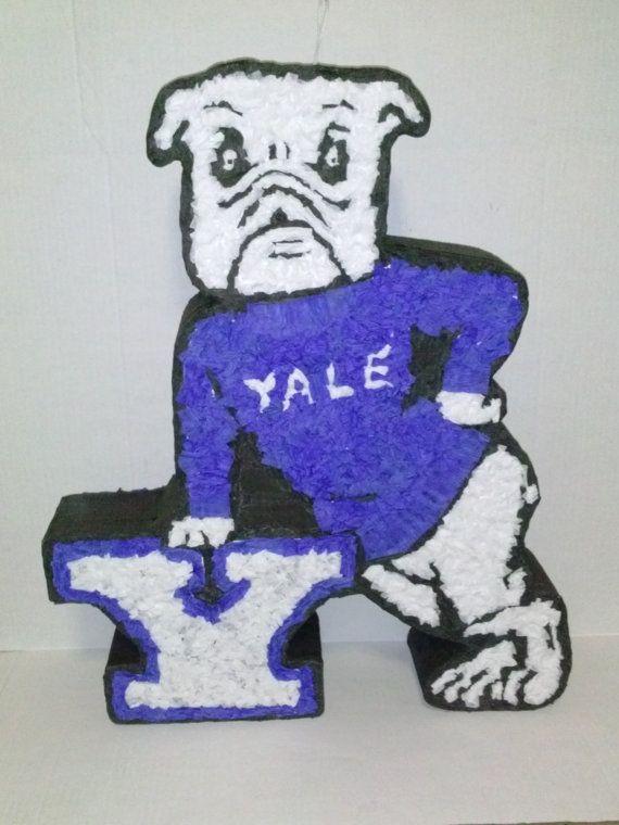 Yale University Bulldog Mascot Logo Pinata Custom By Pinataville