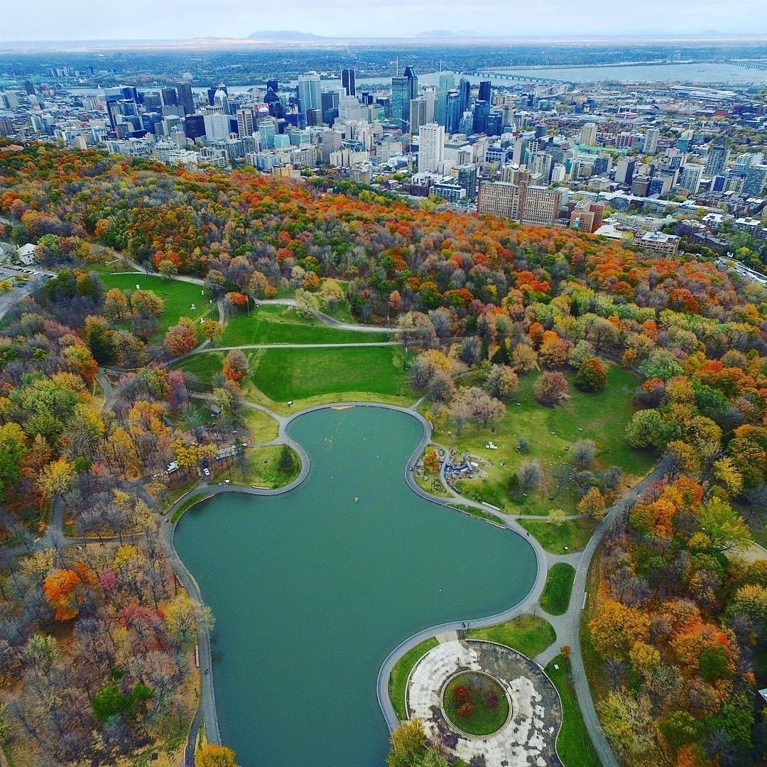 Mount Royal Park designed by Frederick Law Olmsted, who