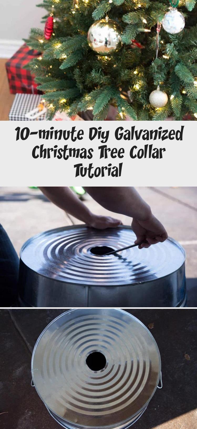 10minute Diy Galvanized Christmas Tree Collar Tutorial