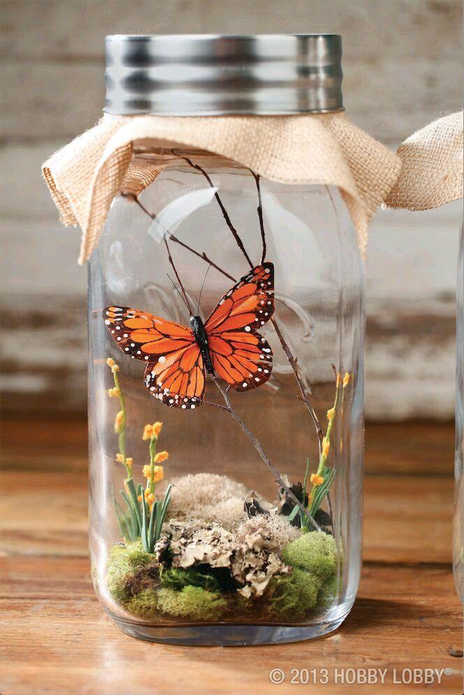 más y más manualidades: Crea bellos adornos de mariposas en frascos ...