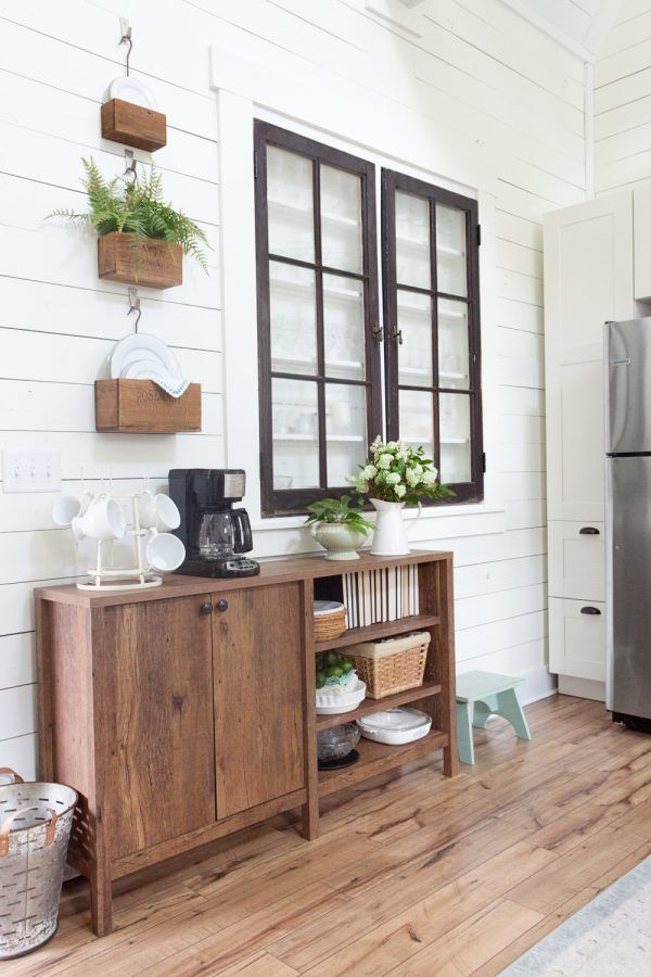 Farmhouse Style Storage Console | Dining room inspiration ...