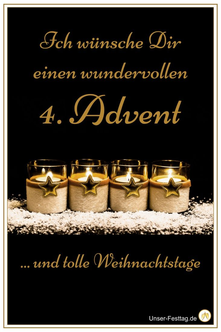 Wünsche Deinen Freunden und Deiner Familie einen schönen vierten Advent. Sie werden sich bestimmt darüber freuen.... #vierteradvent #whatsapp