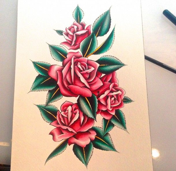 Rose painting by Luke Wessman