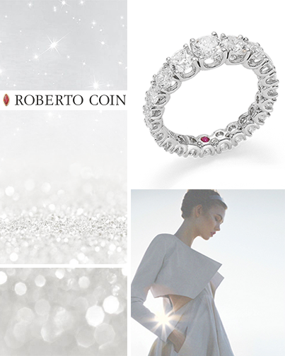 Ring in 18kt white gold with Cento diamonds.