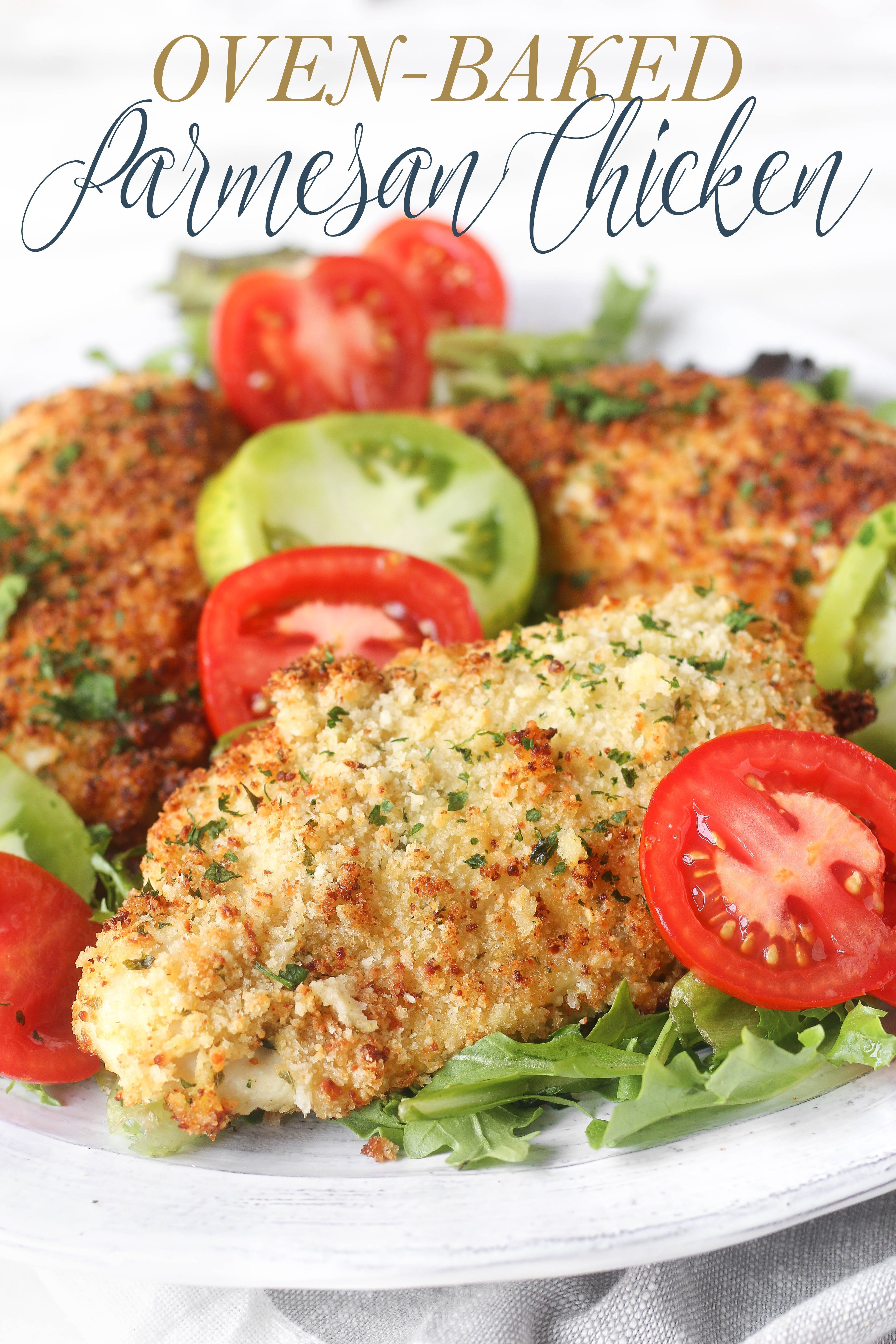 Easy Oven-Baked Parmesan Chicken | Recipe | Quick ...