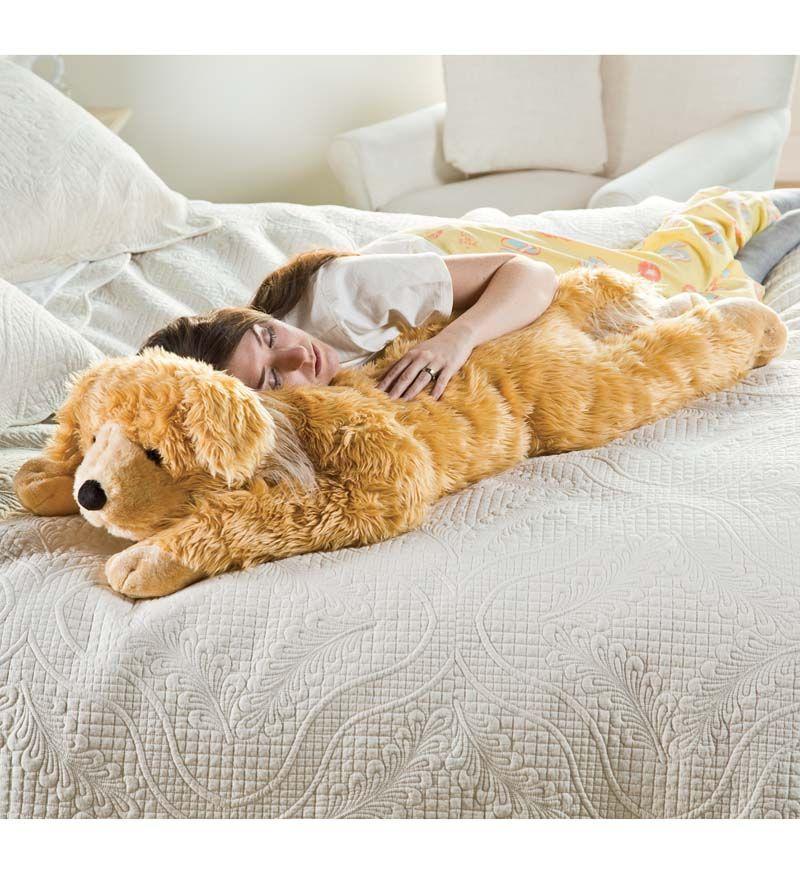 Super Soft Golden Retriever Body Pillow With Realistic Features Golden Retriever Dogs Golden Retriever Body Pillow