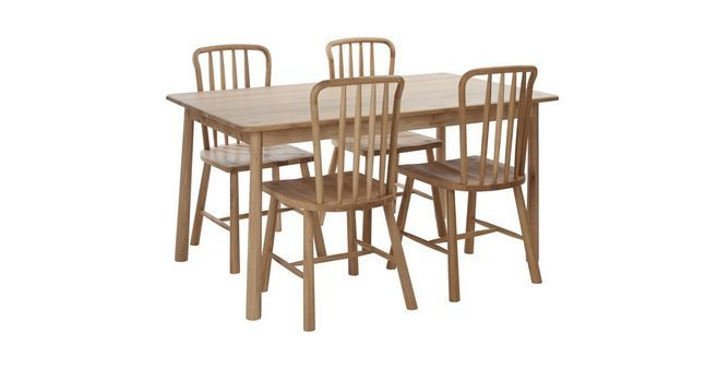 Bramley Medium Fixed Dining Table & Set of 4 Chairs | DFS | Dining ...