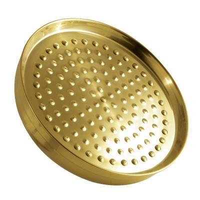 Kingston Brass 1 Spray 10 In Single Wall Mount Fixed Rain Shower Head In Brushed Brass In 2020 Kingston Brass Adjustable Shower Head Shower Heads