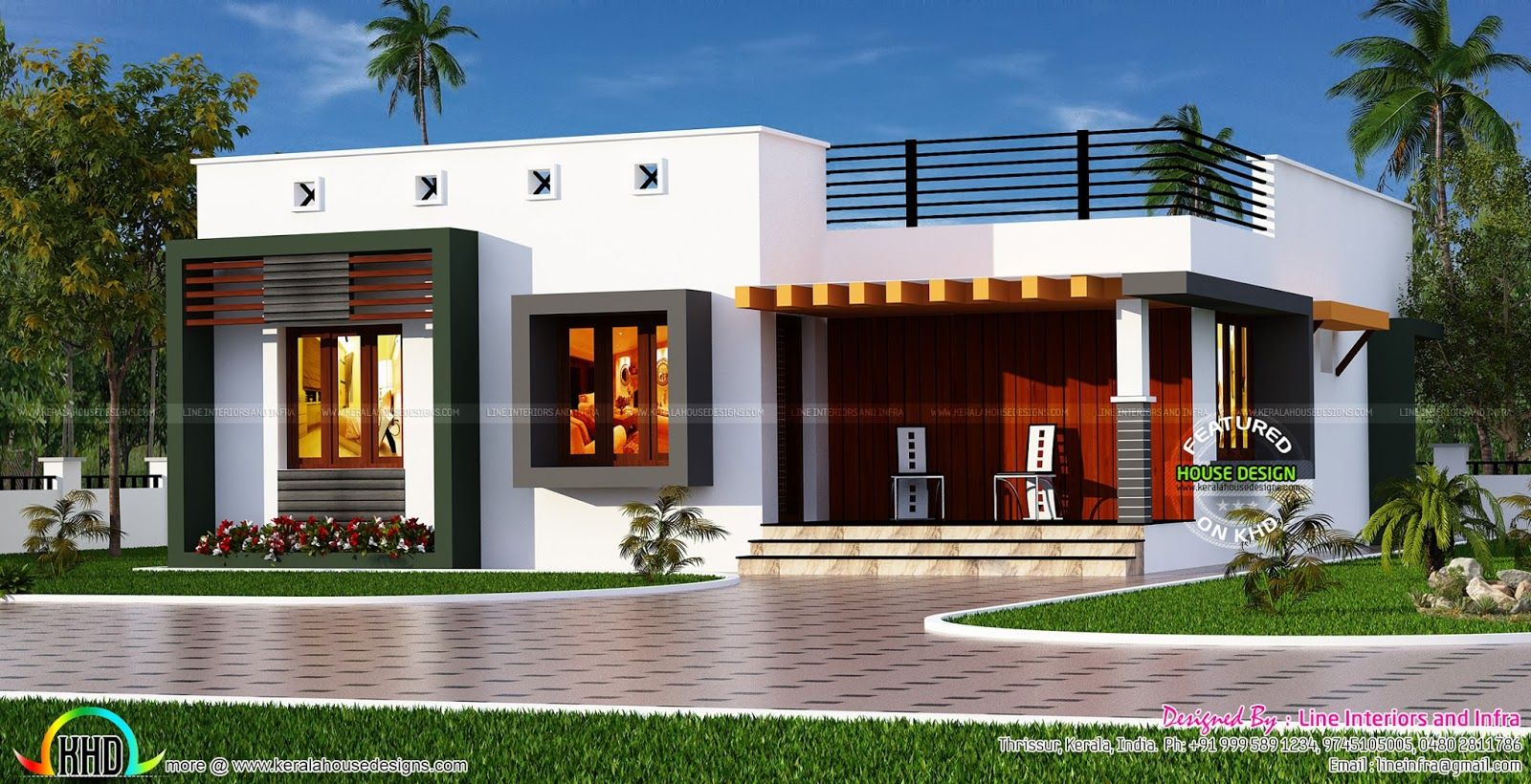 Box Type Single Floor House My Dream Home Kerala House