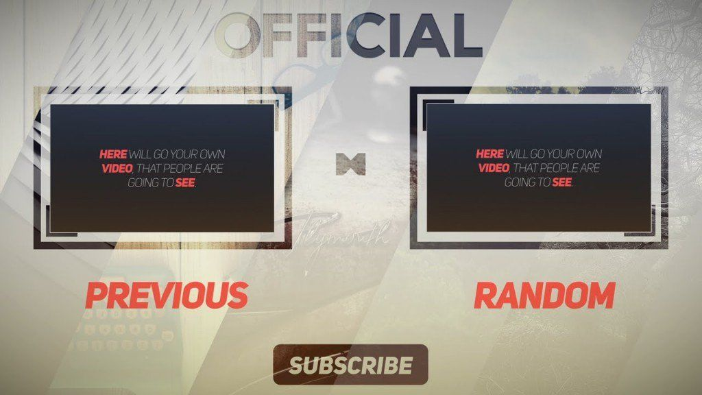 Clean FREE After Effects 2D Outro Template #mockupcatalog #free - free outro template