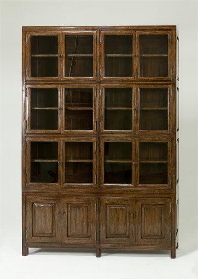 8565 Enclosed Bookcase China Cabinet Crockery Shelves Chinese