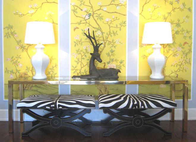 Can T Put Up Wallpaper Try Wallpapered Panels This And Other Tips To Make A Al Home