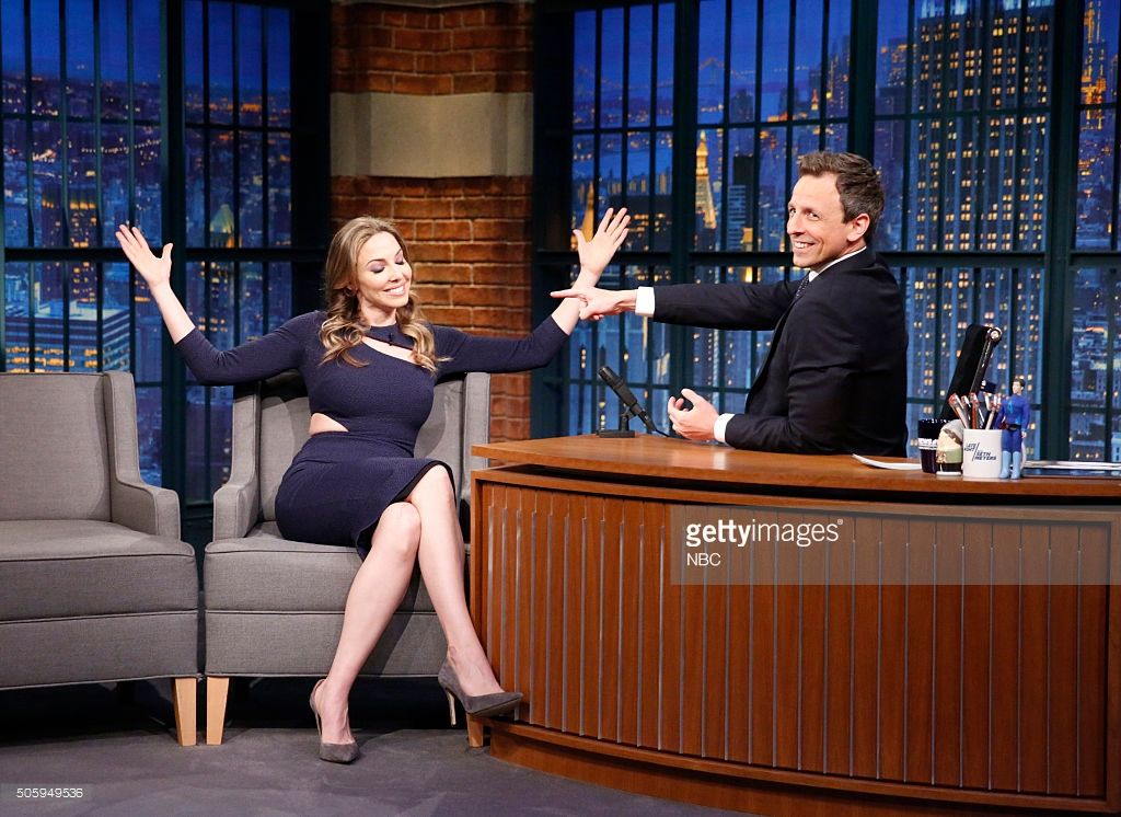 7ee9f99a5c8b8 Comedian Whitney Cummings during an interview with host Seth Meyers on  January 20