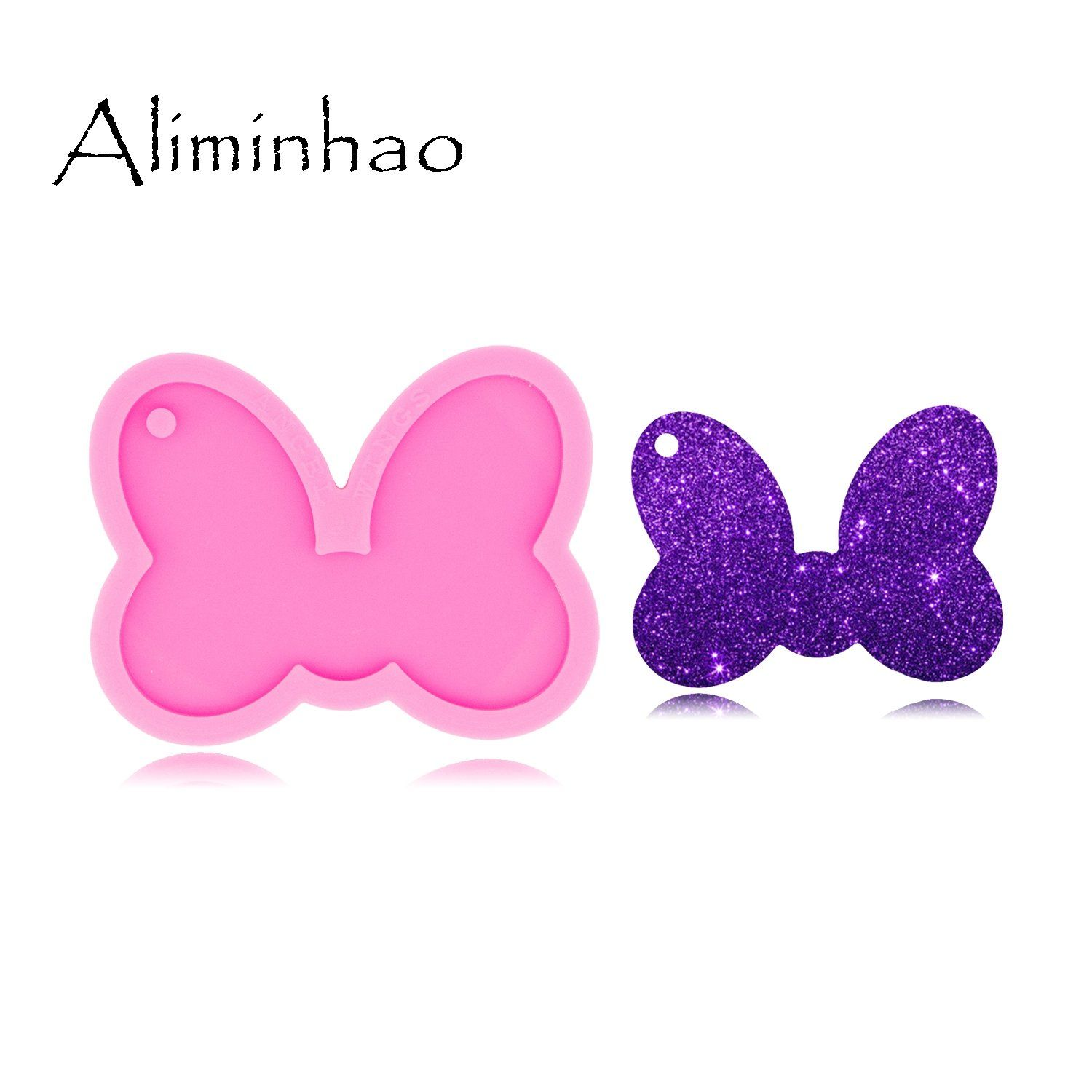 Bow Mouse Animated Shape Keychain Silicone Mold In 2020 Silicone Molds Molding Clay Resin Molds