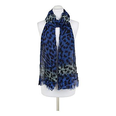 Jasper Scarf - On-Trend Coloured Animal Print Scarf with Frayed Hems.  For our full collection visit http://www.louisemshoes.com. #louisemshoes