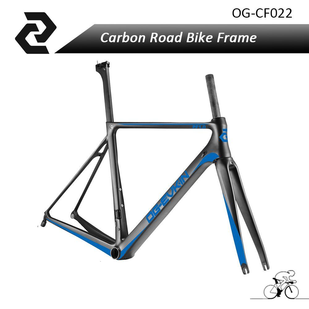 OG-EVKIN Full Carbon Fiber Road Bike Frame with V brake and Hidden ...