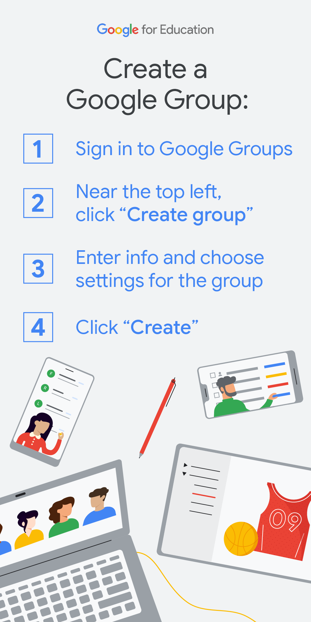 Learn How To Create A Google Group Google Education Google Groups Class Organization