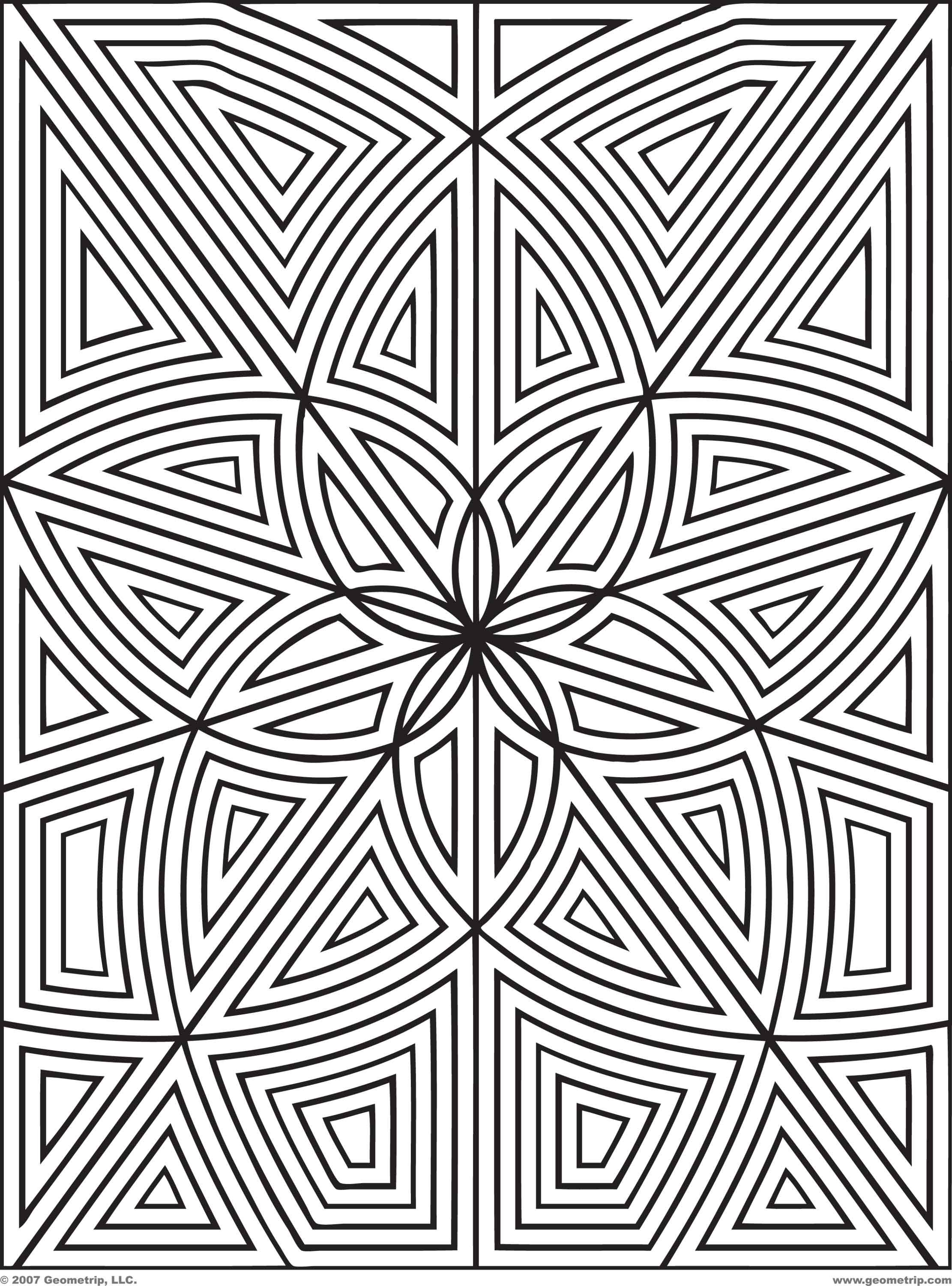 Designs To Print And Color  Geometripcom  Free Geometric Coloring