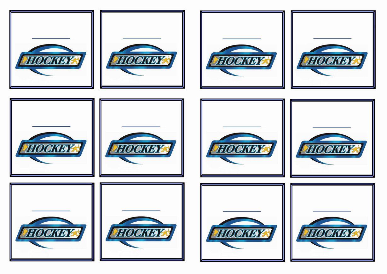 Free Printable Hockey Themed Name Tags Themed Name Tags