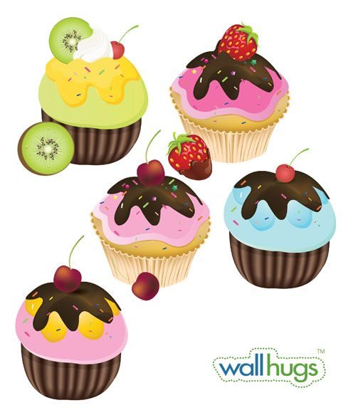 cupcake decals! awesome!