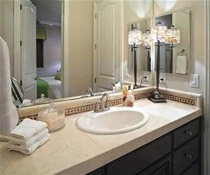how to accessorize bathroom vanity with small lamp - - Yahoo Image ...