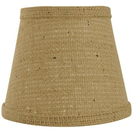 Natural Burlap Lamp Shade 6x12x8 (Spider) - $60.00