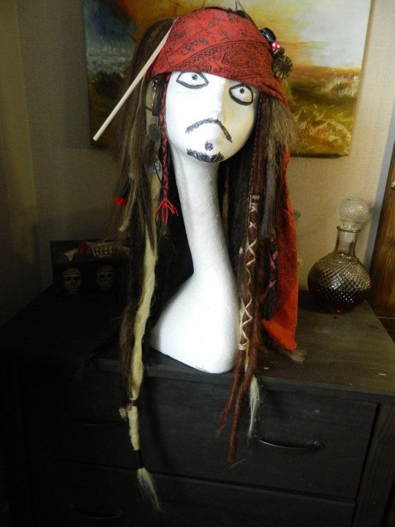 Jack Sparrow Wig Pirates of the Caribbean by CrossbonesCraftsEtsy