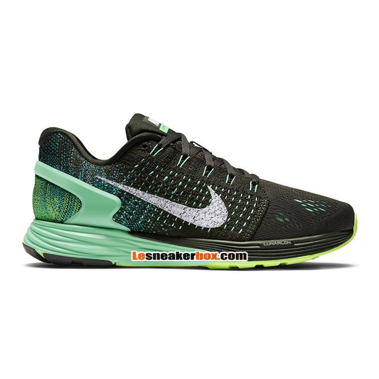 Womens NIKE LUNARGLIDE 7 Black Running Trainers 747356 001