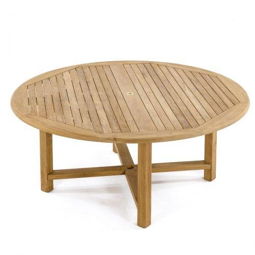 6 Ft Round Buckingham Teak Dining Table Westminster Teak Teak Patio Table Teak Outdoor Furniture Teak Dining Table