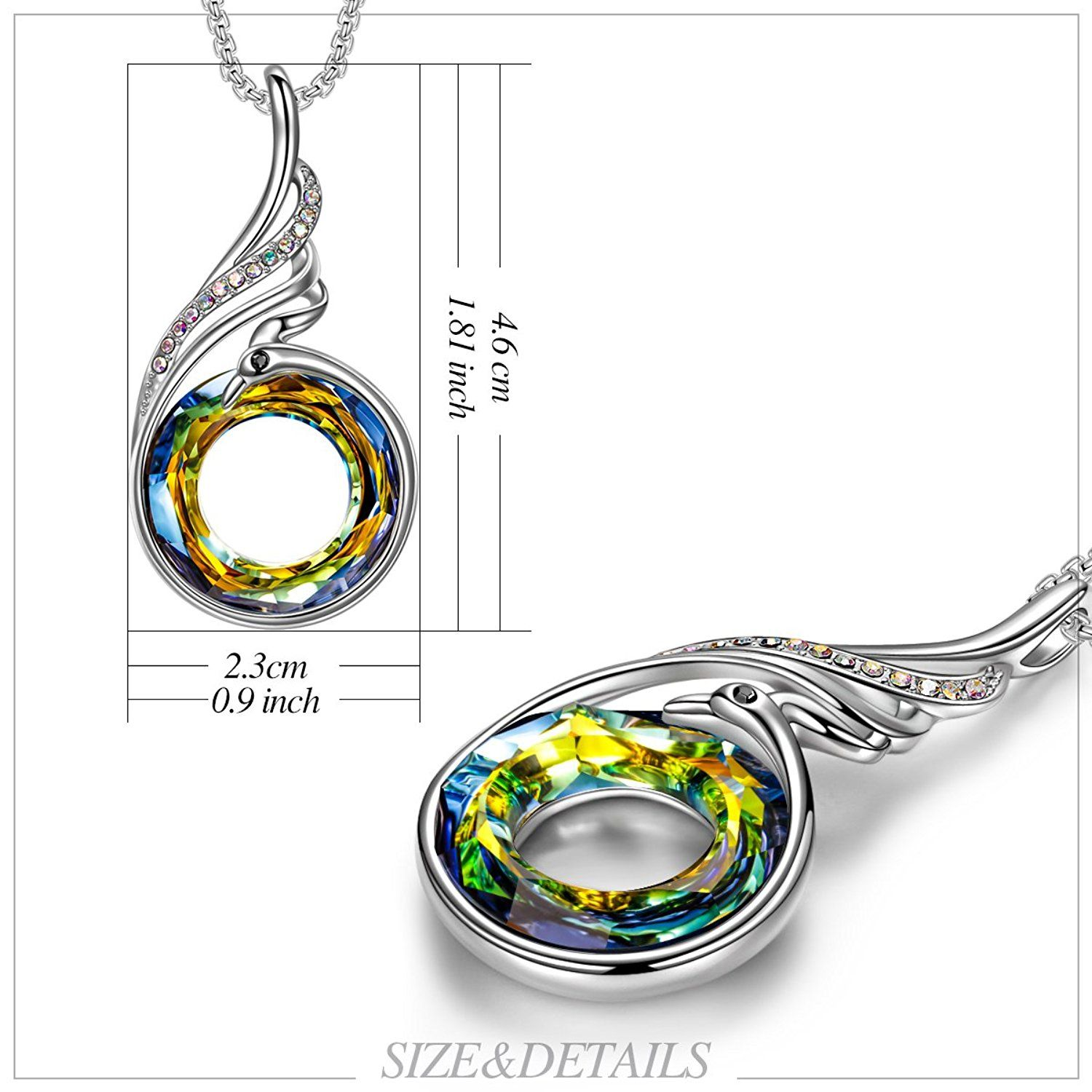 """824c946c0 Necklace with SWAROVSKI Crystals Limited Edition Christmas Gifts [Luxury  Jewelry Gift Box] KATE LYNN 'Nirvana of Phoenix' Sahara Yellow Pendant  Necklace 18"""" ..."""
