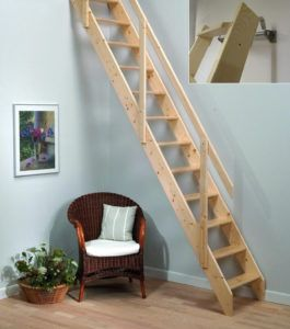 Best Small Opening Wood Attic Ladder Space Saving Staircase Small Space Stairs Loft Stairs 640 x 480