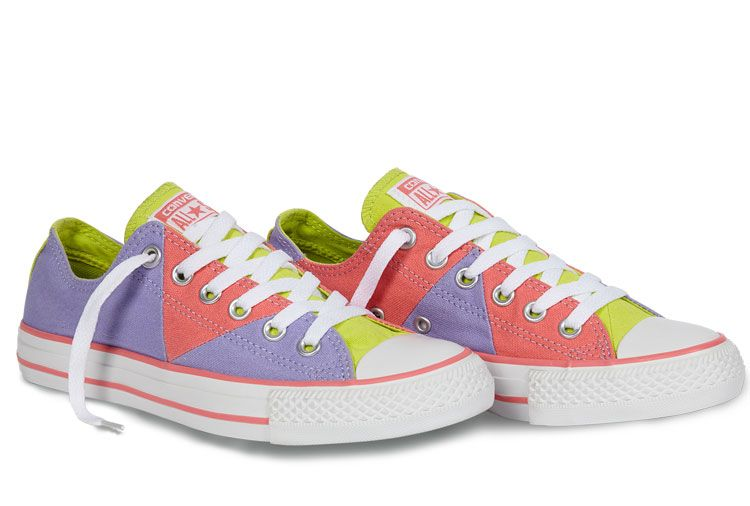 a326869f164 Converse Chuck Taylor Multi Pancel Summer Ice Cream Purple Pink Yellow All  Star Low Tops Canvas
