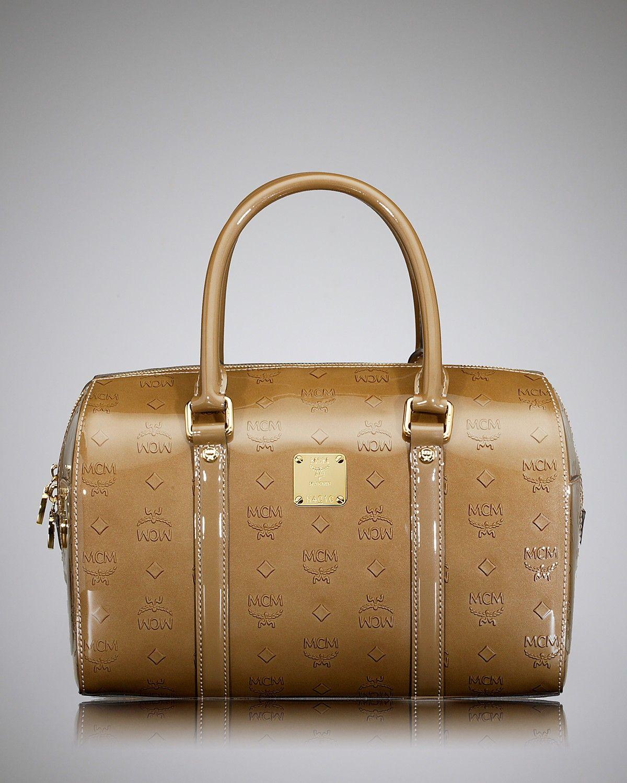 Mcm Designer mcm satchel ivana boston patent mcm designer shops handbags
