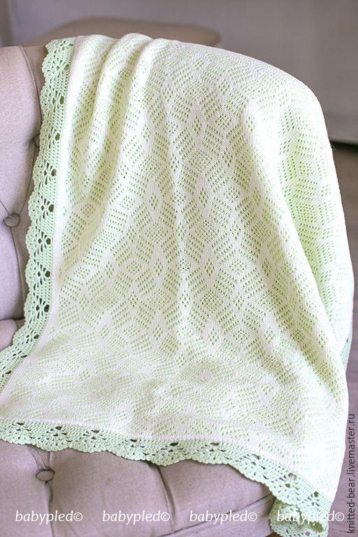 Вязаные детские одеяла и пледы 158