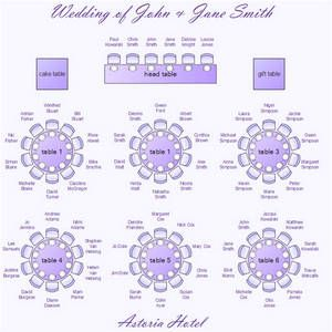 Wedding Seating Chart Template Organizing Your Wedding Day  Down