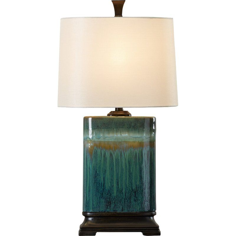 A Classic Drip Glaze Ceramic Table Lamp That Will Add Interest To Your Home S D Eacute Cor While Brightening Your Living Lamp Table Lamp Rectangular Table Lamp