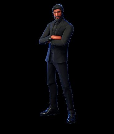 The Reaper Fortnite Skin Black Suited Hitman Outfit Reaper Fortnite Reaper Skins