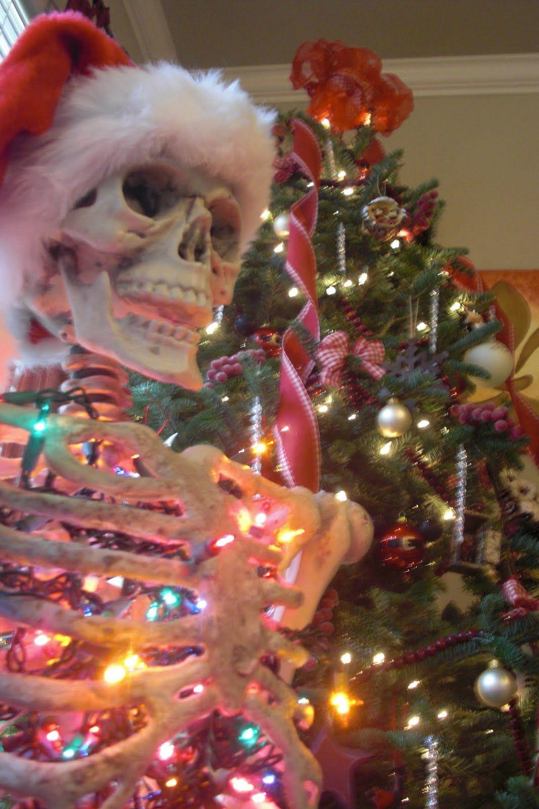 Christmas Skeleton.Everyone Needs An Articulated Skeleton Full Of Christmas