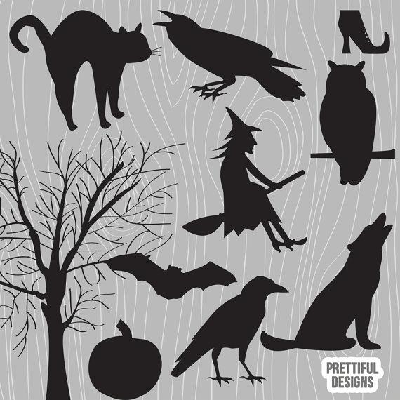 Stencil Halloween Tree Bat Spooky Crafts Make Signs Pillows