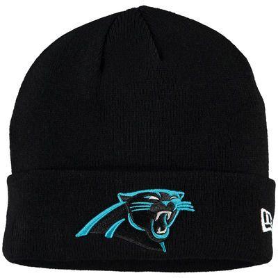 c56c7da577d9e Carolina Panthers New Era Solid Cuffed Knit Hat - Black