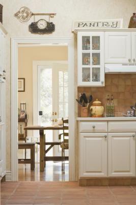 How To Make Vinyl Tile Flush With Ceramic Tile In Doorways Declutter Your Home Home Swinging Doors Kitchen