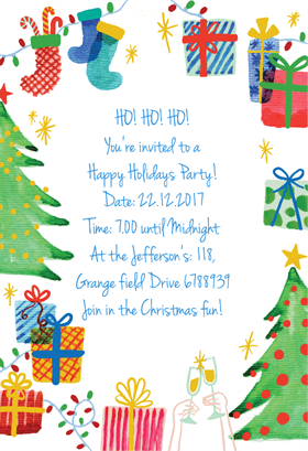 Best Holiday Ever Printable Invitation Template Customize Add