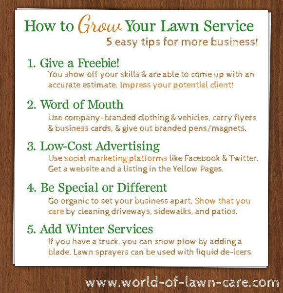 Have a #lawncare business? We have 5 easy tips to promote and ...