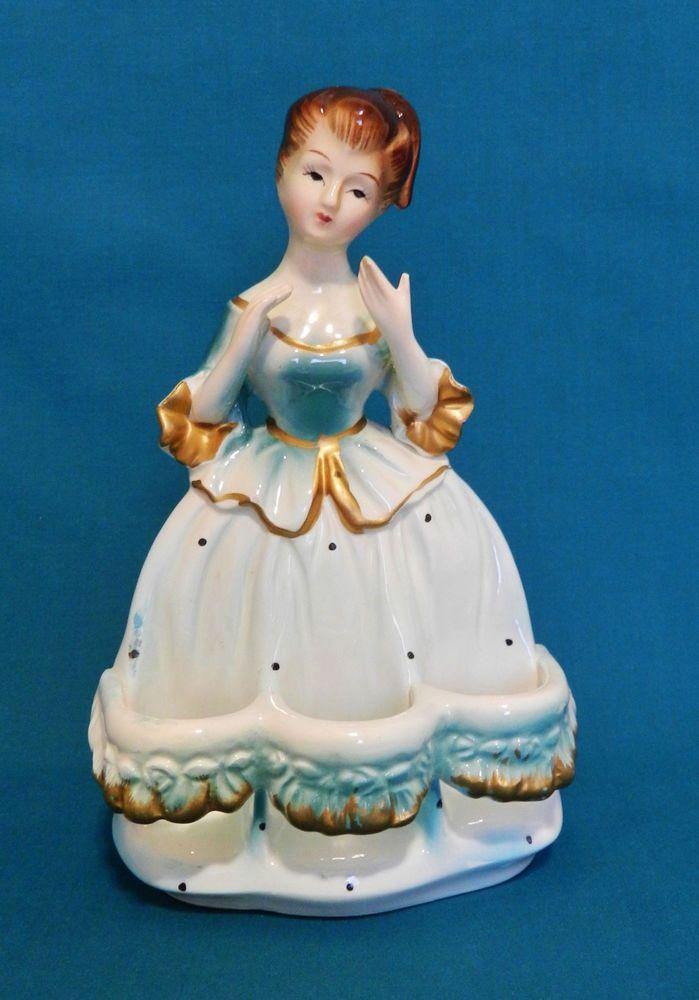 Vintage Chadwick Lady in Blue Vanity Lipstick Holder