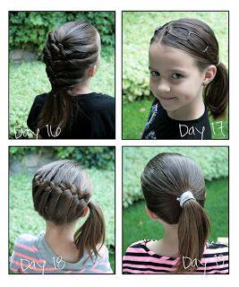 I'll wear the French braid one tomorrow except in a bun!!