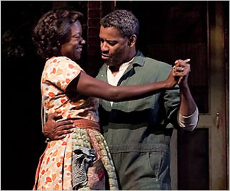 denzel washington and viola davis on broadway in wilson s  fences by wilson essay denzel washington and viola davis on broadway in wilson s