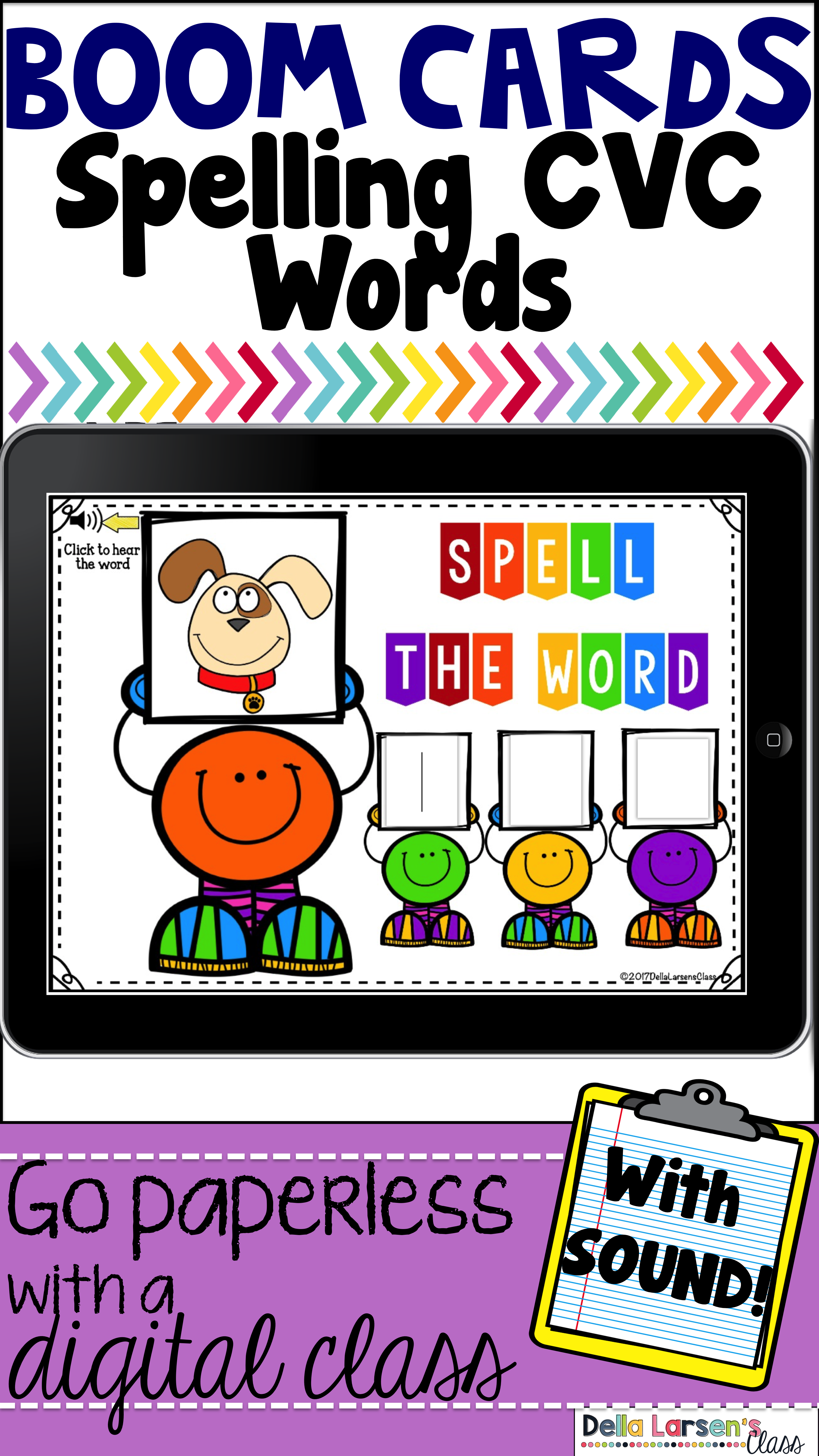 Boom Cards - Spelling CVC Words | Best ideas for