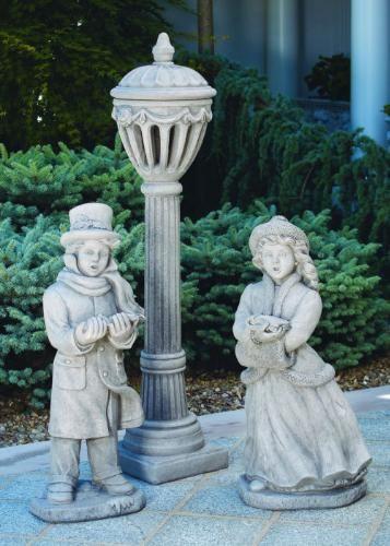 Lamp Post Christmas Garden Statues