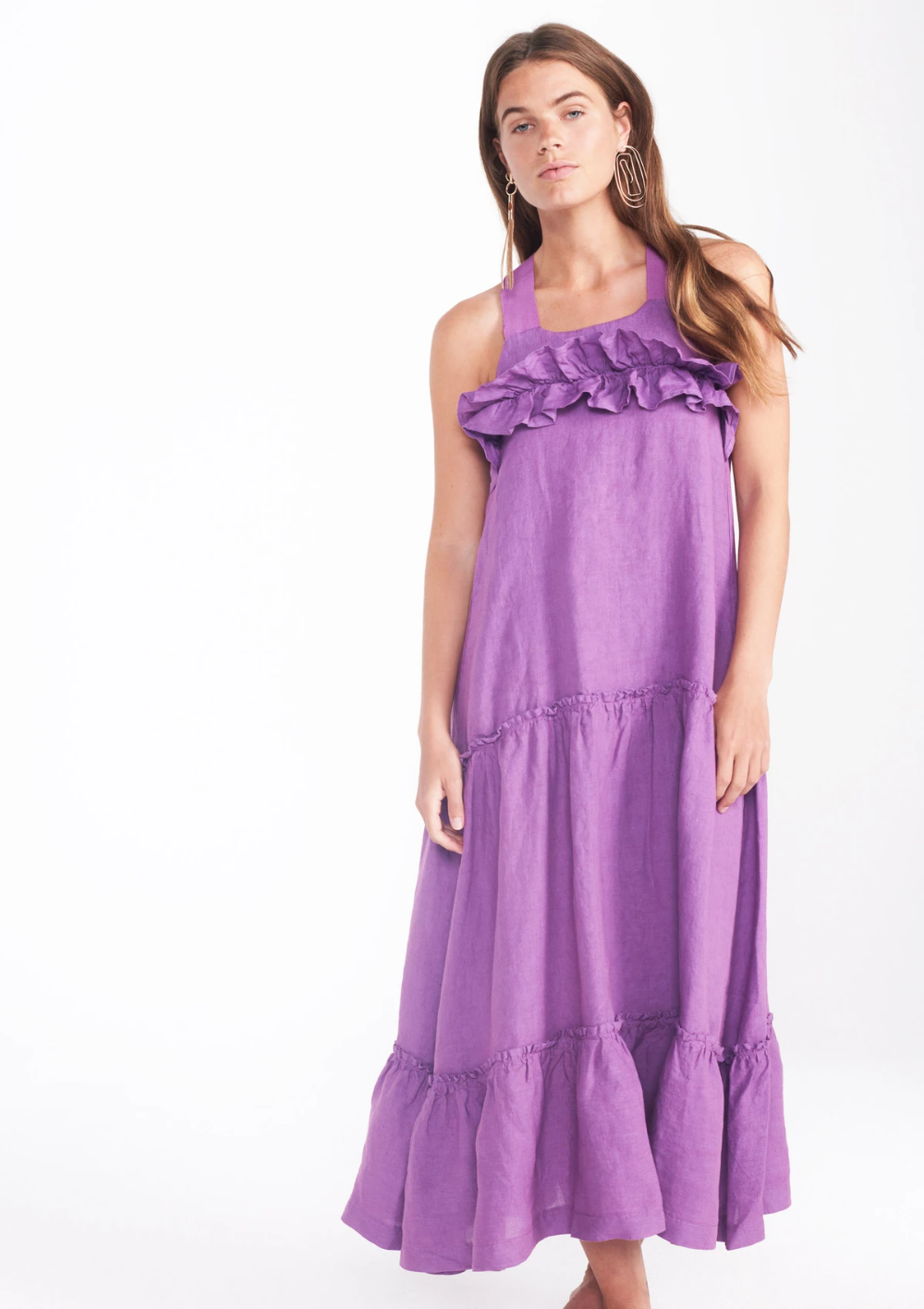 Anemone Dress In Violet Bower Swimwear [ 1416 x 1000 Pixel ]